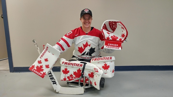Jessie Gregory sledge goalie Team Canada small