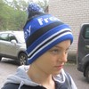 Knitted Hat BLUE-BLACK-WHITE